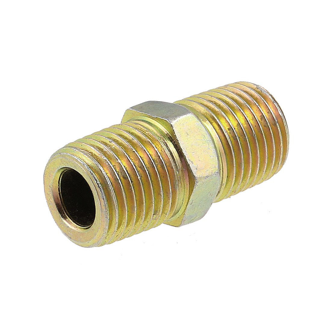 "Full Port 1/4"" to 1/4"" Male Thread Hex Bushings Water Pipe Fitting Coupling"