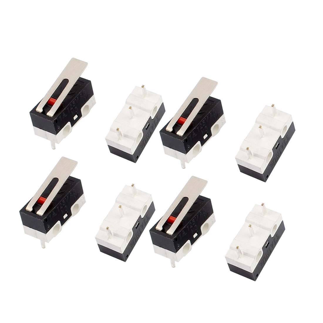NO NC Contact Short Hinge Lever Actuator Miniature Micro Limit Switch AC125V 1A 8 Pcs