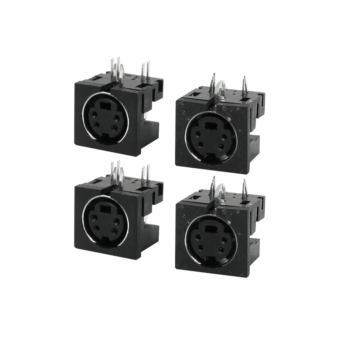 4 Pcs PCB Mount Female Mini 4 Pin Din S Jack DVD Connector Sockets