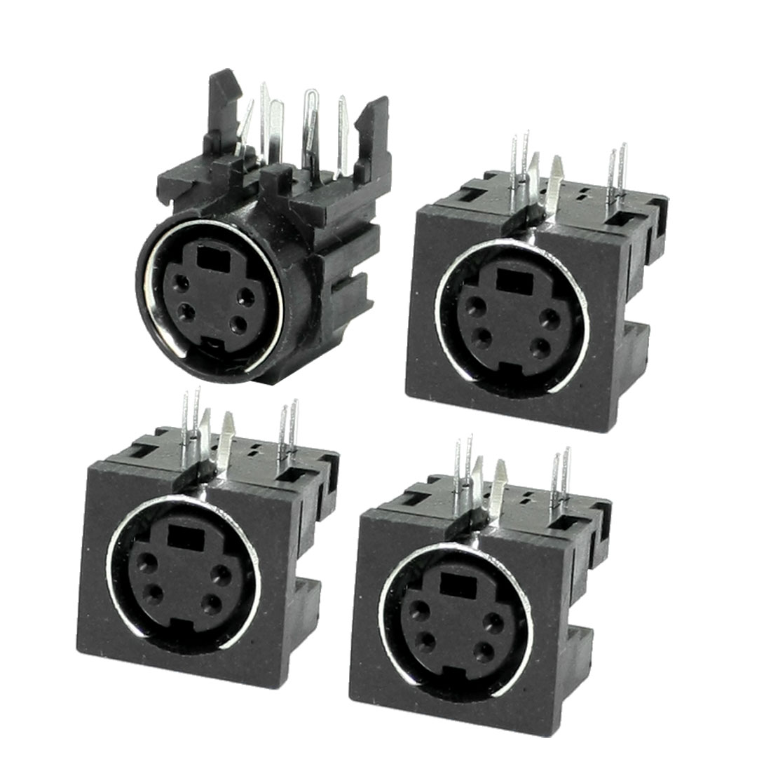 4 Pcs PCB Mounting 4 Pin Female S Jack DVD Mini Din Sockets Connectors