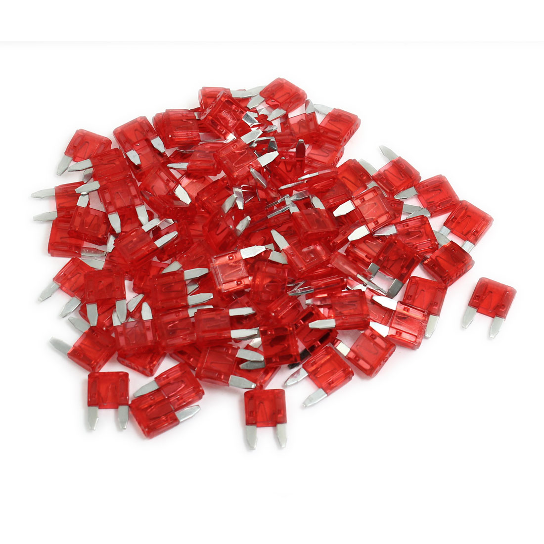 Motorcycle Van 10A ATS Flat Blade Fuse Red 100 Pieces