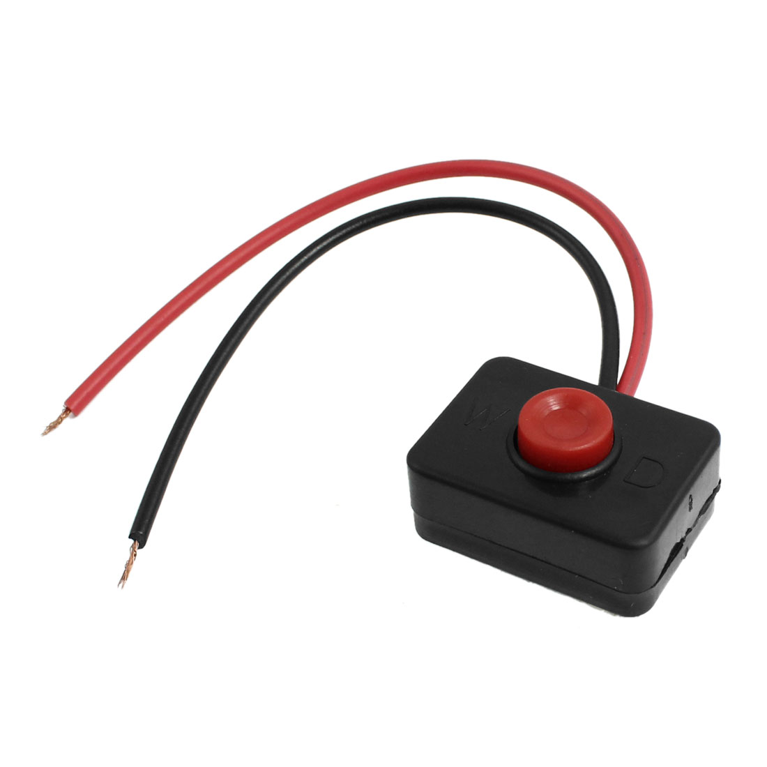 DC 12V 2A Adhesive Base Push Button Momentary Action Wired Switch for Car