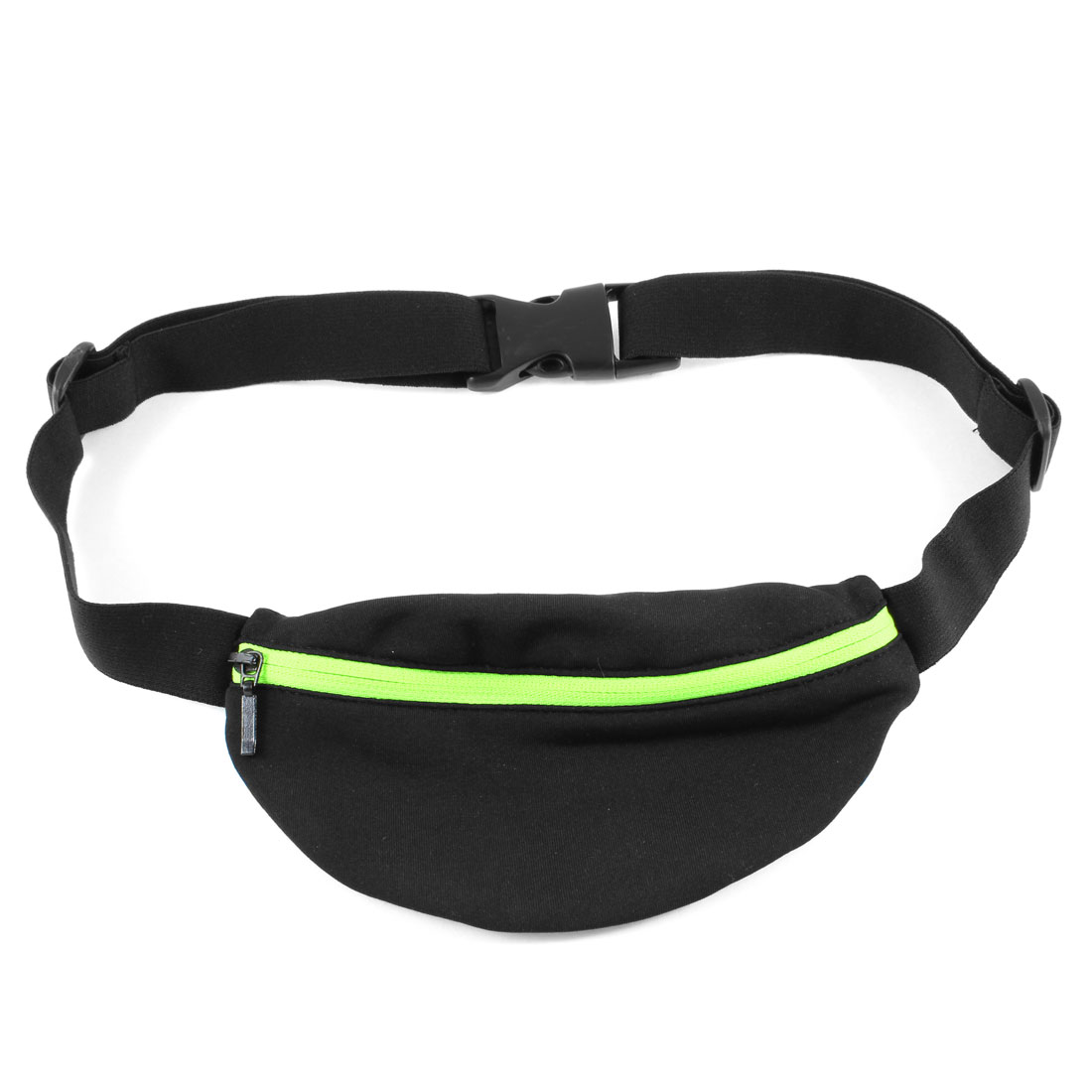Adult Zip up 1 Compartment Pocket Waist Bag Fanny Pack Pouch Black Yellow