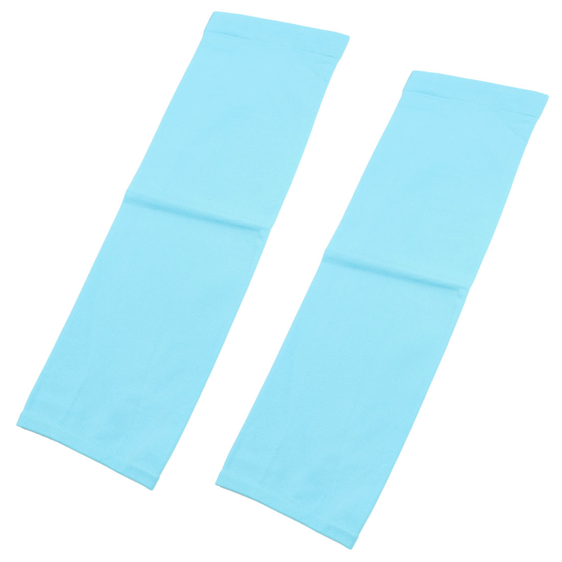 2 Pcs Outdoor Activities Fingerless Arm Warmers Gloves Sky Blue for Adult