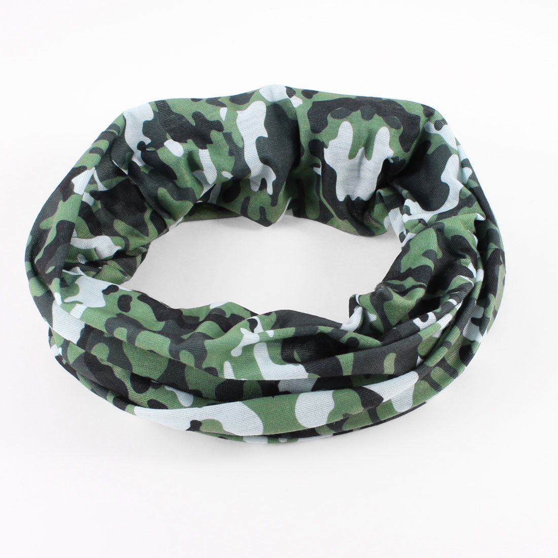 Football Exercises Protective Elastic Fabric Head Headband White Army Green