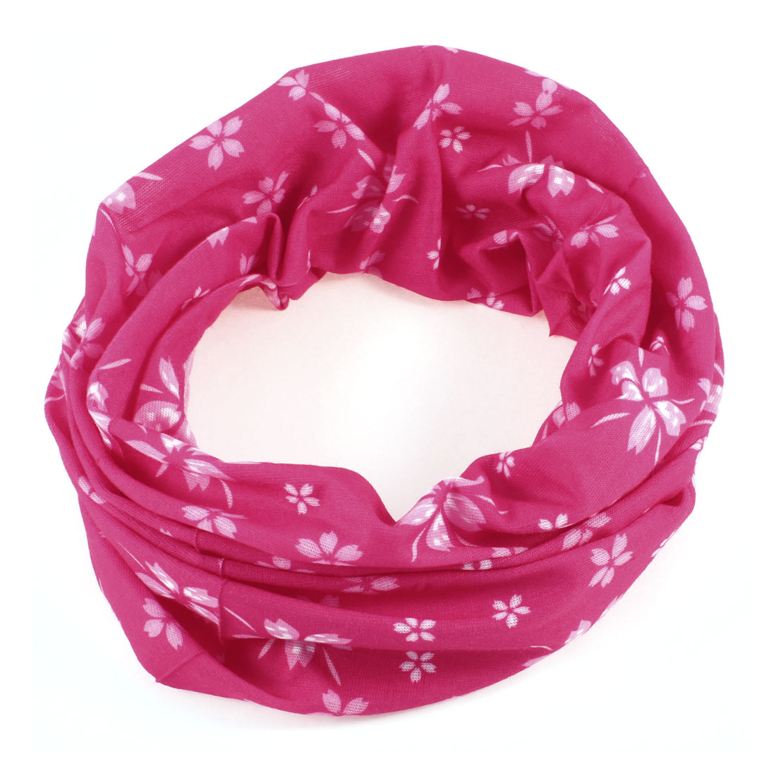 Sports Exercises Protective Sweatband Flower Printed Headband Fuchsia