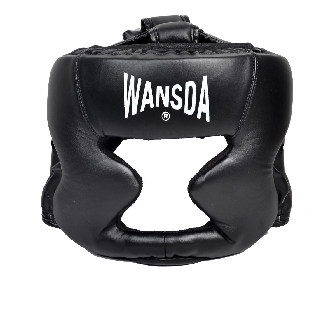Unisex Black Faux Leather Fighting Hat Boxing Matches Headgear Protection