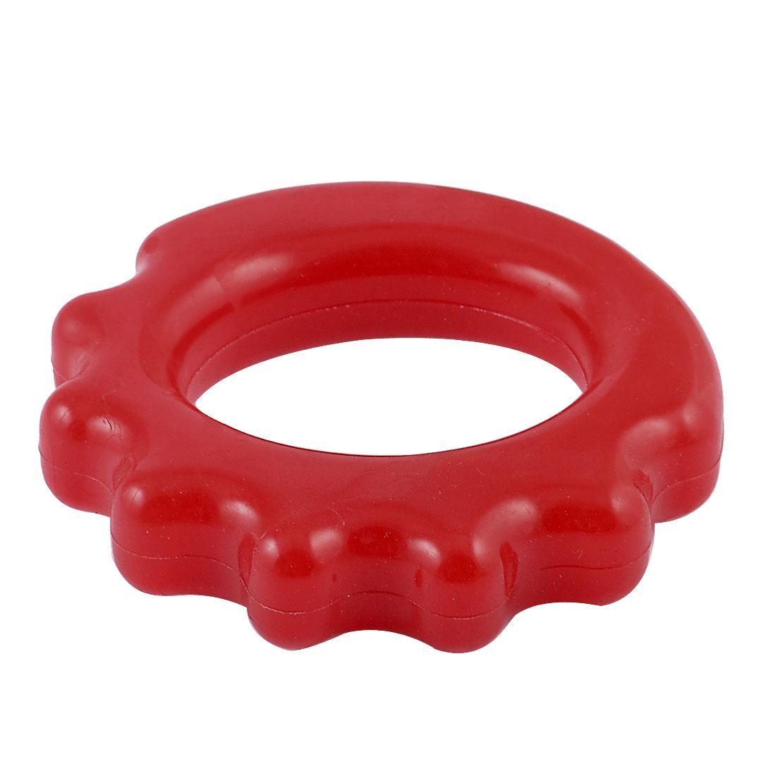 Training Red Soft Plastic Elastic Hand Finger Strength Grip Ring