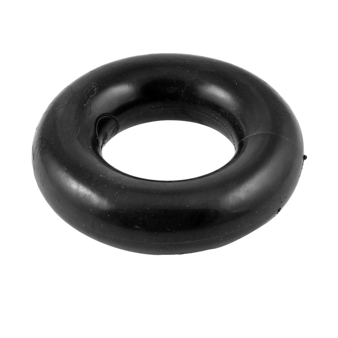 Elastic Soft Plastic Round Massage Finger Hand Ring Grip Black