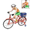 1:10 Red Frame Blue Saddle Assembling Sports Bicycle Model w Plastic Sportman