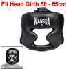 Unisex Black Faux Leather Fighting Helmet Boxing Matches Headgear Protection