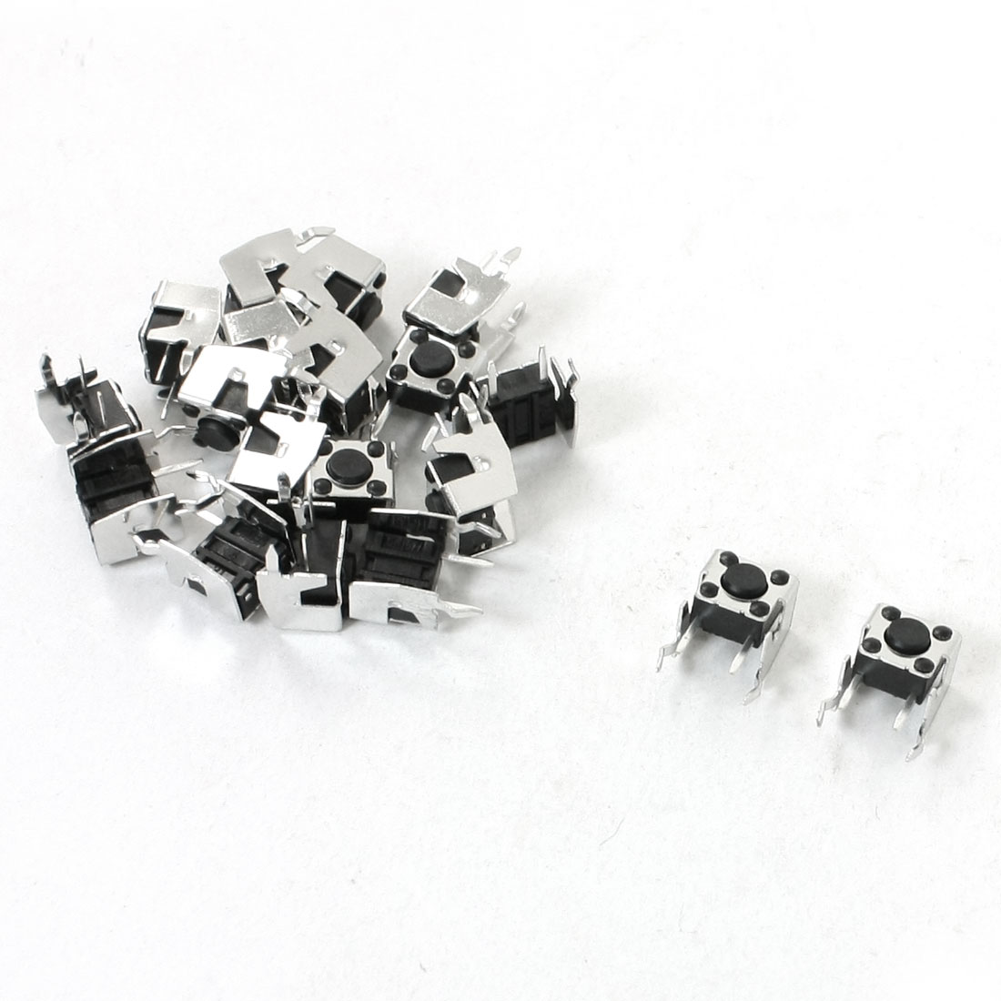 19 Pcs 6x6x4mm Right Angle Momentary DIP Tactile Tact Push Button Switch