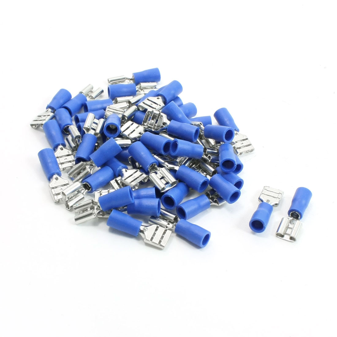 50 Pcs 2.5mm Dia Wire Hole Spade Crimp Terminals Connectors 220VAC 15A