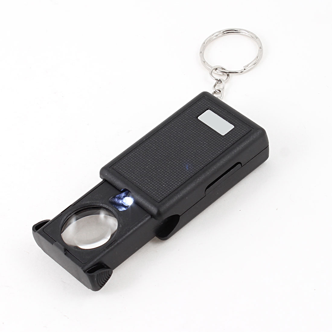 Pocket 21mm Dia Multiple Pull Type Magnifying Glass Key Ring