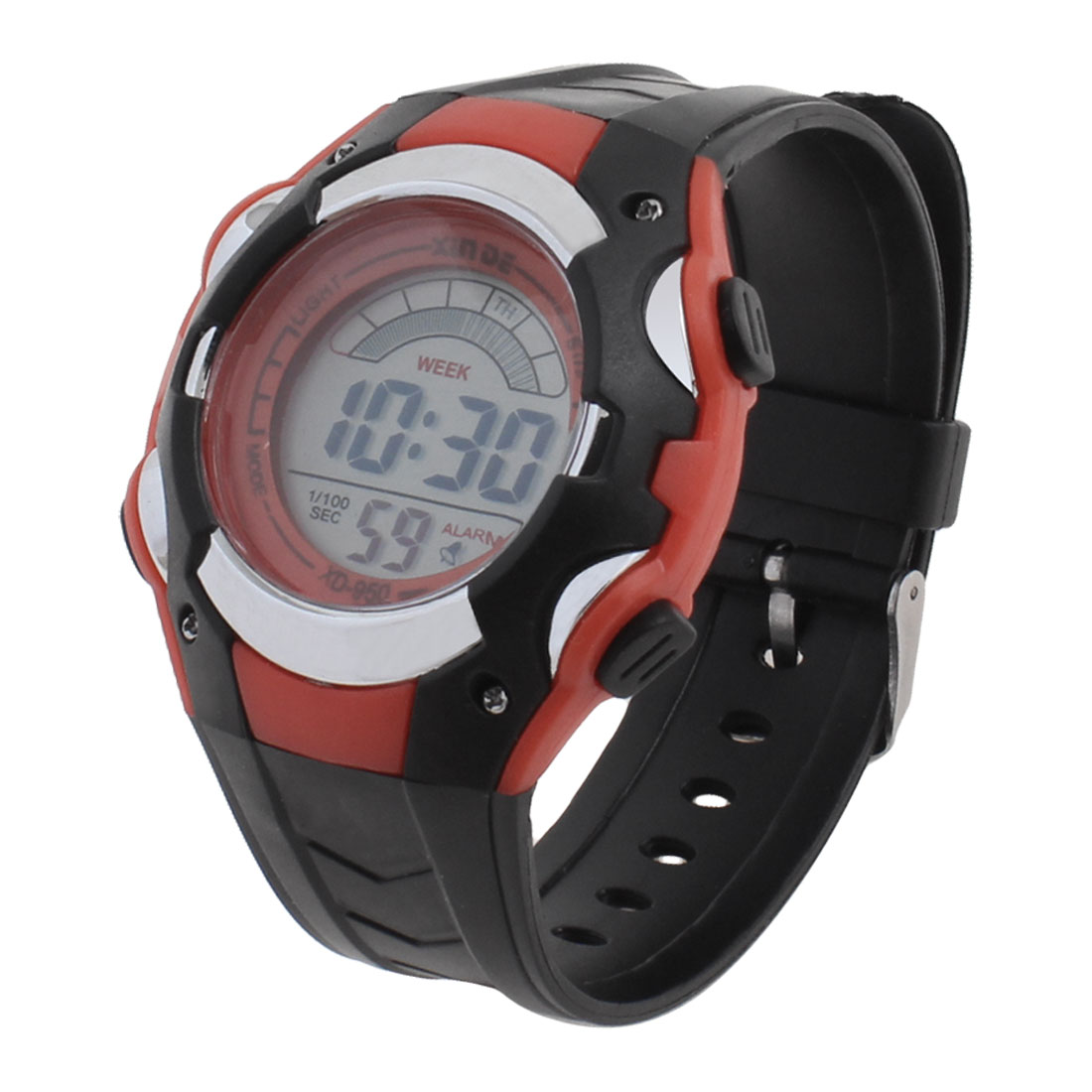 Man Plastic Band Multifunctional Sport Running Alarm Watch