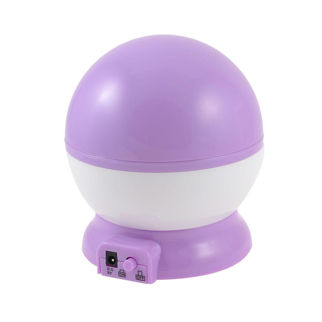 USB Cable Christmas Gift Star Moon Print Night Light Projector Lamp Blue Purple