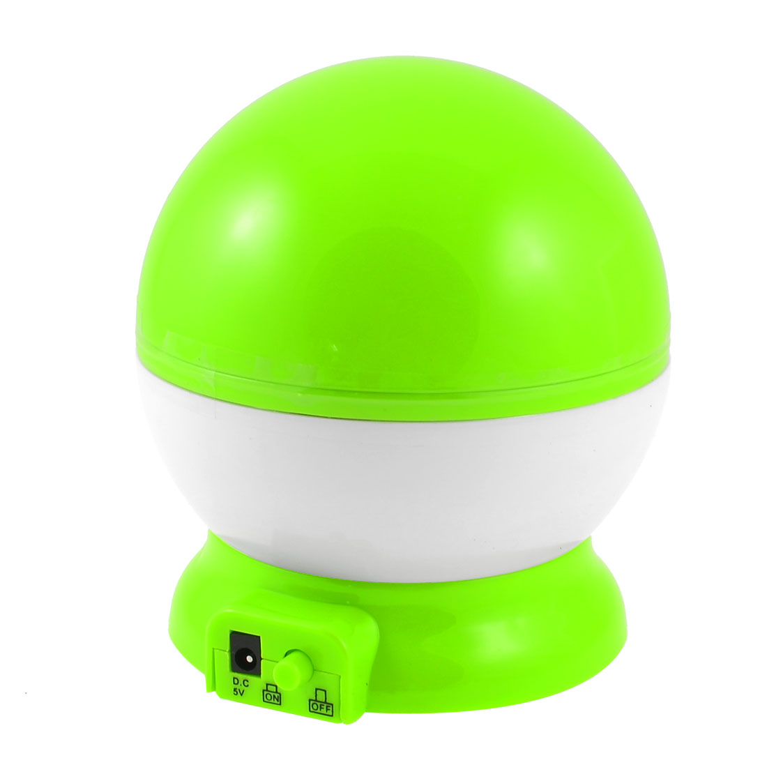 Gift Star Moon Pattern USB Cable Night Light Projector Rotation Lamp Green White