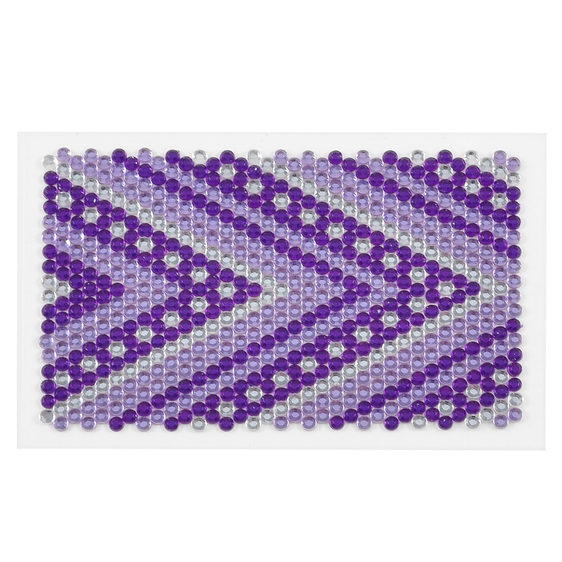 Mobile Cell Phone Purple Clear Arrow Print Rhinestone Jewelry Seal Sticker