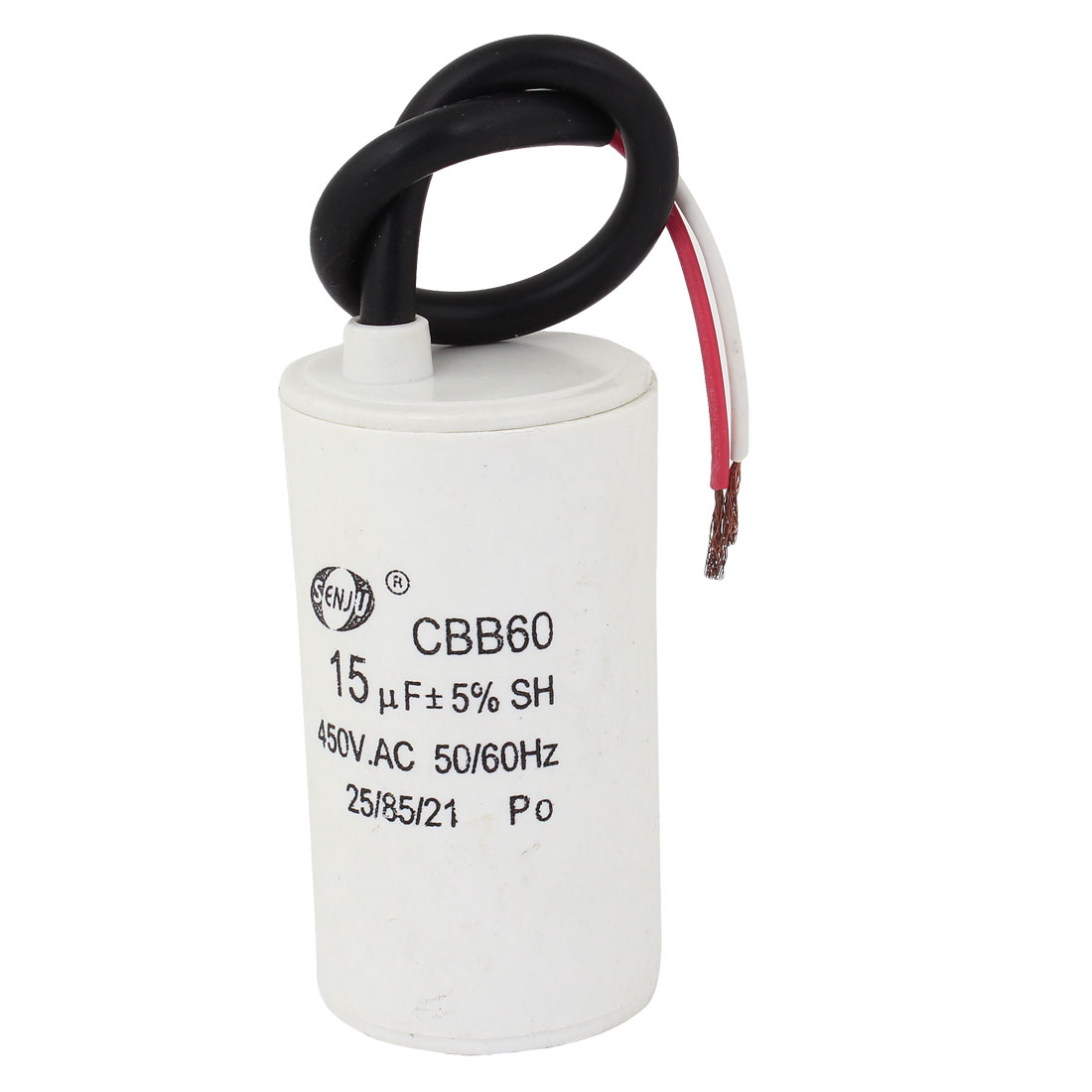 AC 450V 15uF Nonpolar Wired Electrolytic Motor Run Capacitor CBB60