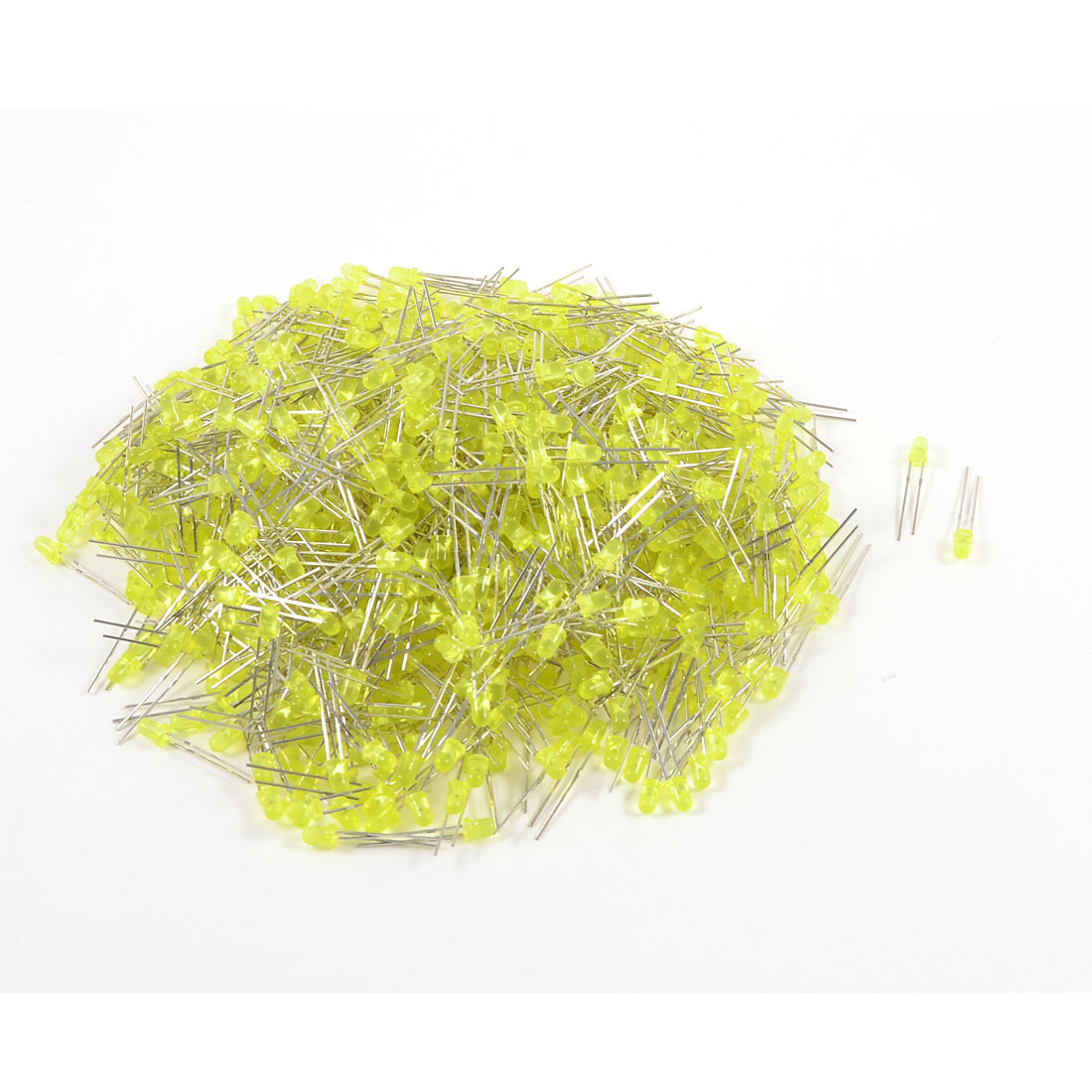 1000 Pcs 1.8-2 VDC 20mA Non-polar 3mm F3 Yellow LED Light Emitting Diodes