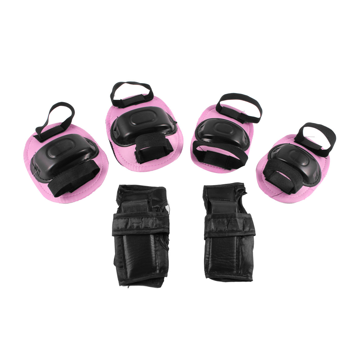 Child Skating Pink Black Wrist Palm Elbow Knee Mat Protector Set 3 in 1