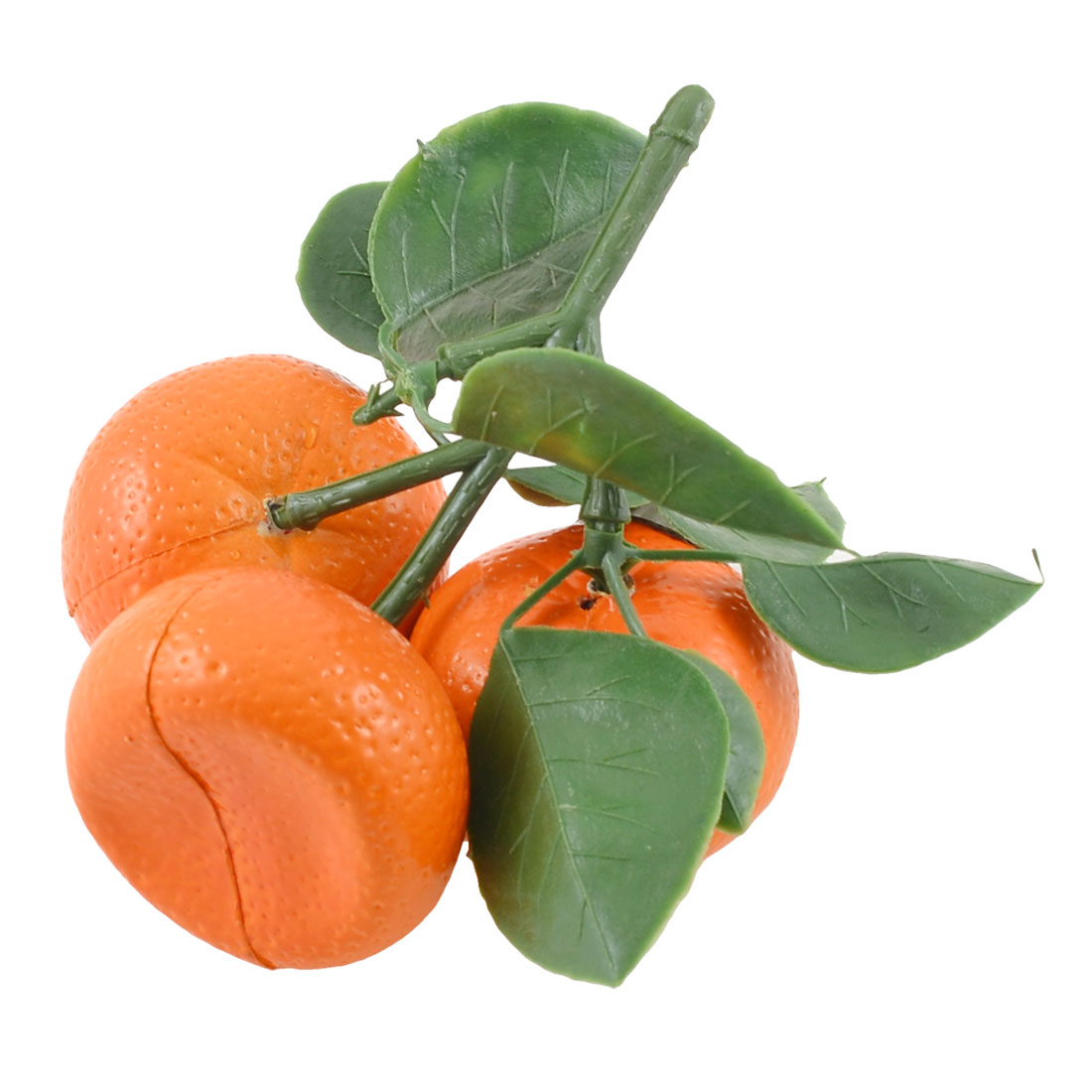 Bedroom Artifical Faux Fruit Plastic Leaves Tangerines Table Decor Green Orange