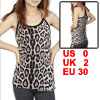 Faux Rhinestones Inlaid Shoulder Straps Tank Top Black Beige XS for Women