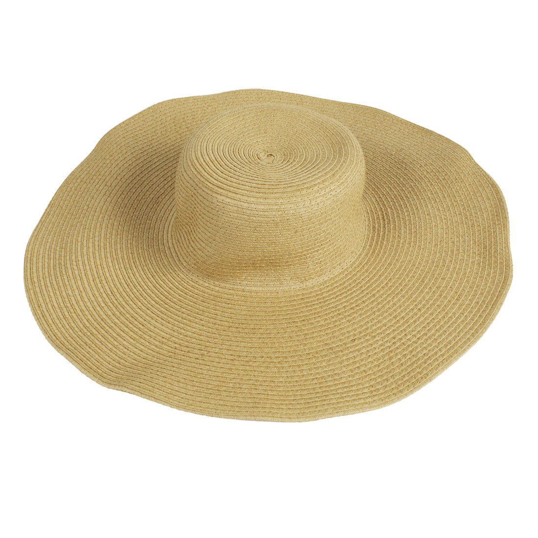 Lady Outdoor 14.5cm Width Brim Visor Hat Beach Summer Cap Dark Khaki
