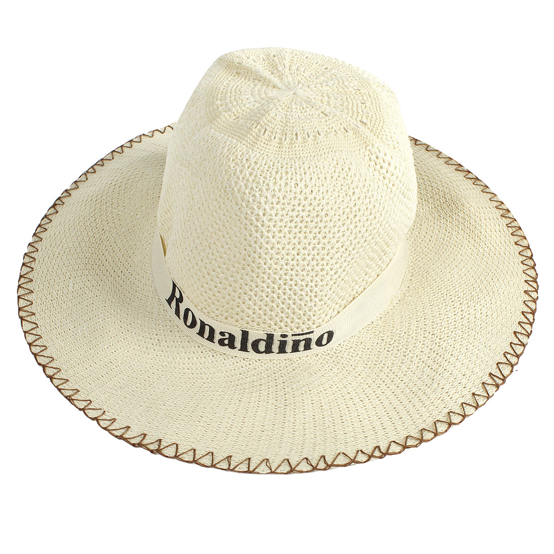 Adjustable Chin Strap Winding Cowboy Hat Gift Beige for Man