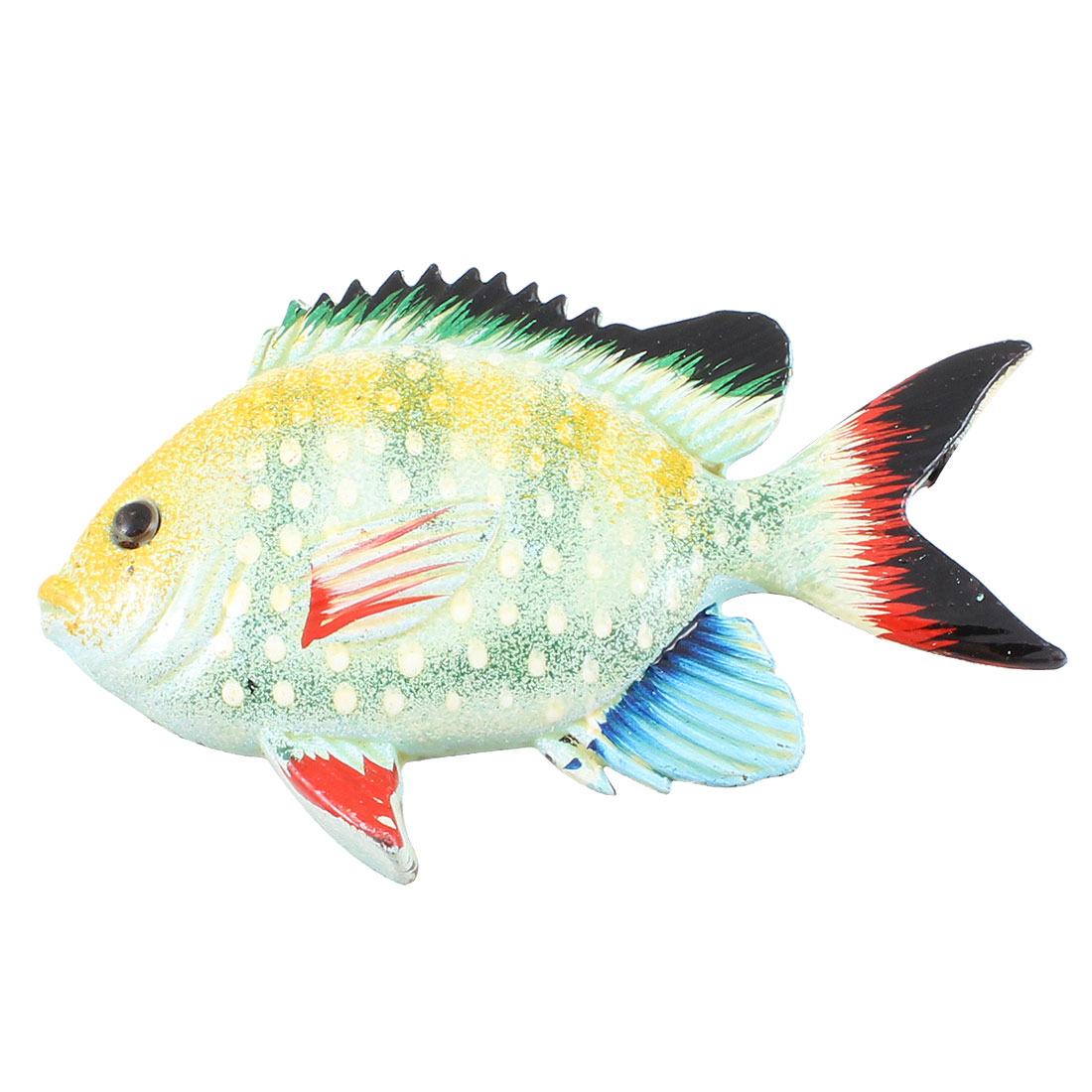 Light Blue Yellow Green Plastic Fish Door Refrigerator Fridge Decor Magnet Sticker