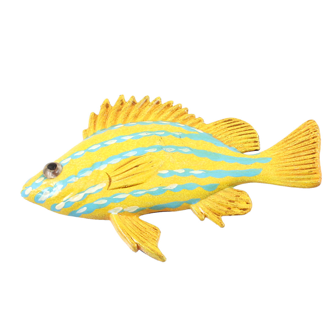 Blue Yellow Plastic Fish Style Magnetic Sticker for Fridge Refrigerator