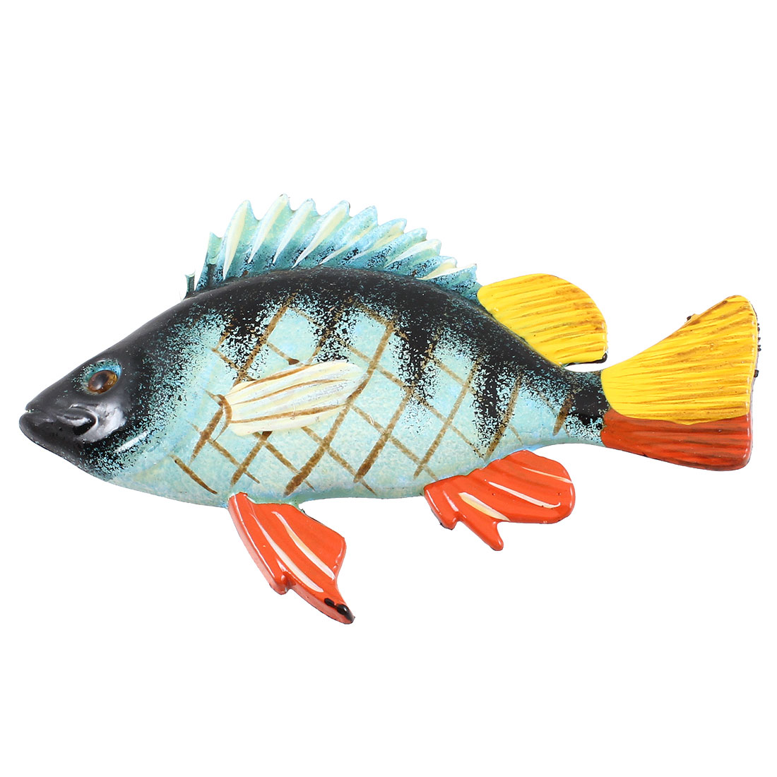 Tri Color Plastic Tropical Fish Magnetic Sticker for Fridge Refrigerator
