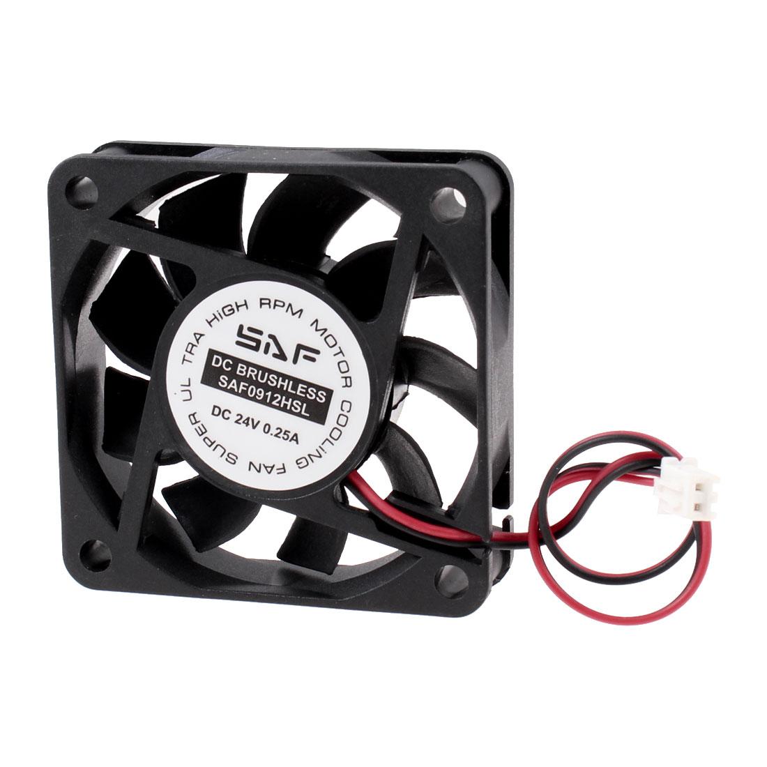 DC 24V 0.25A Cooling Fan 60mm x 15mm for Computer Case CPU Cooler