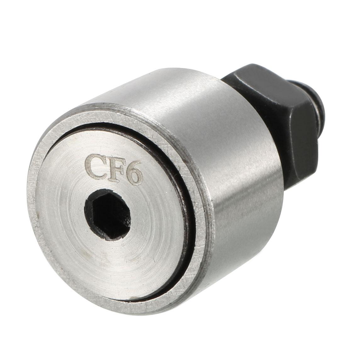 Stud Type Track 6mm Dia Rod Cam Follower Needle Roller Bearing CF6