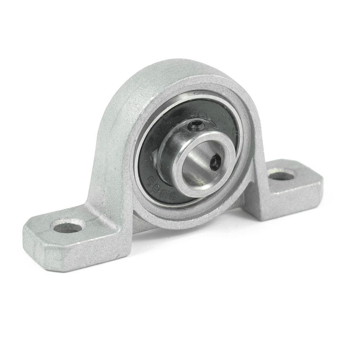 Silver Tone SU08 Pillow Block Cast Housing 8 x 20 x 6mm Insert Ball Bearing