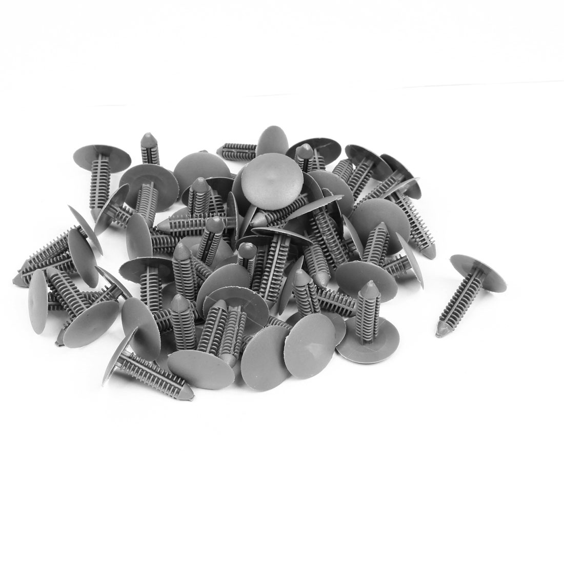 50pcs Vehicle Car 7mm Hole Gray Door Fender Plastic Rivets Fastener