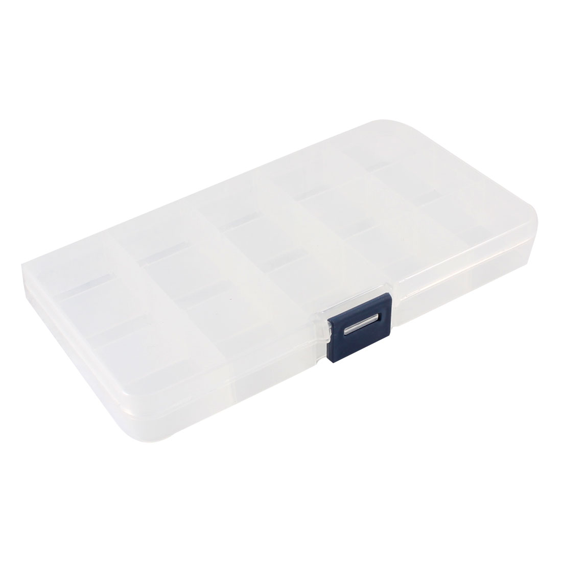Clear White Plastic 15 Compartments Electronic Component Storage Case Box