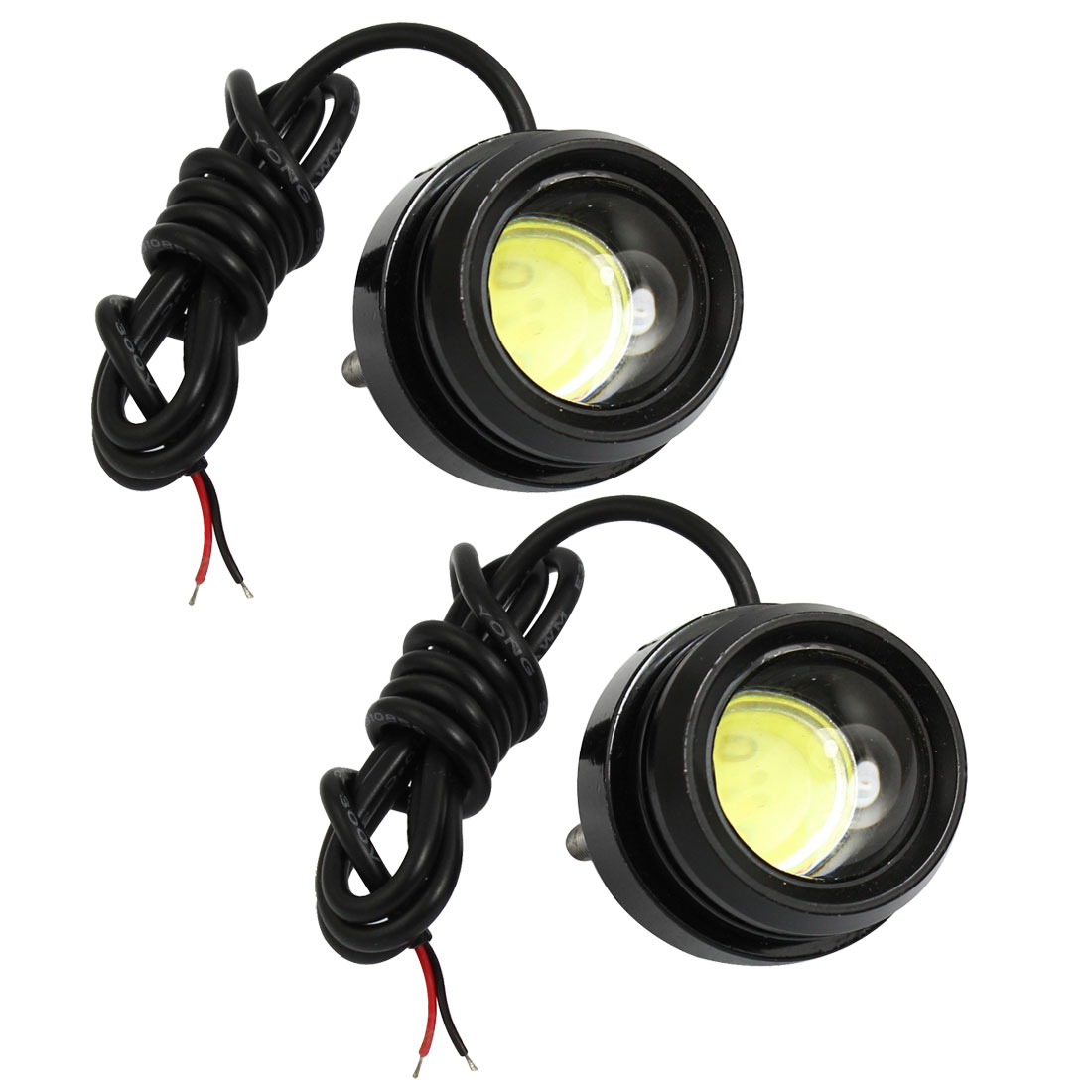 2pcs DC 12V 3W White LED Day Time Running Light for Vehicle Car