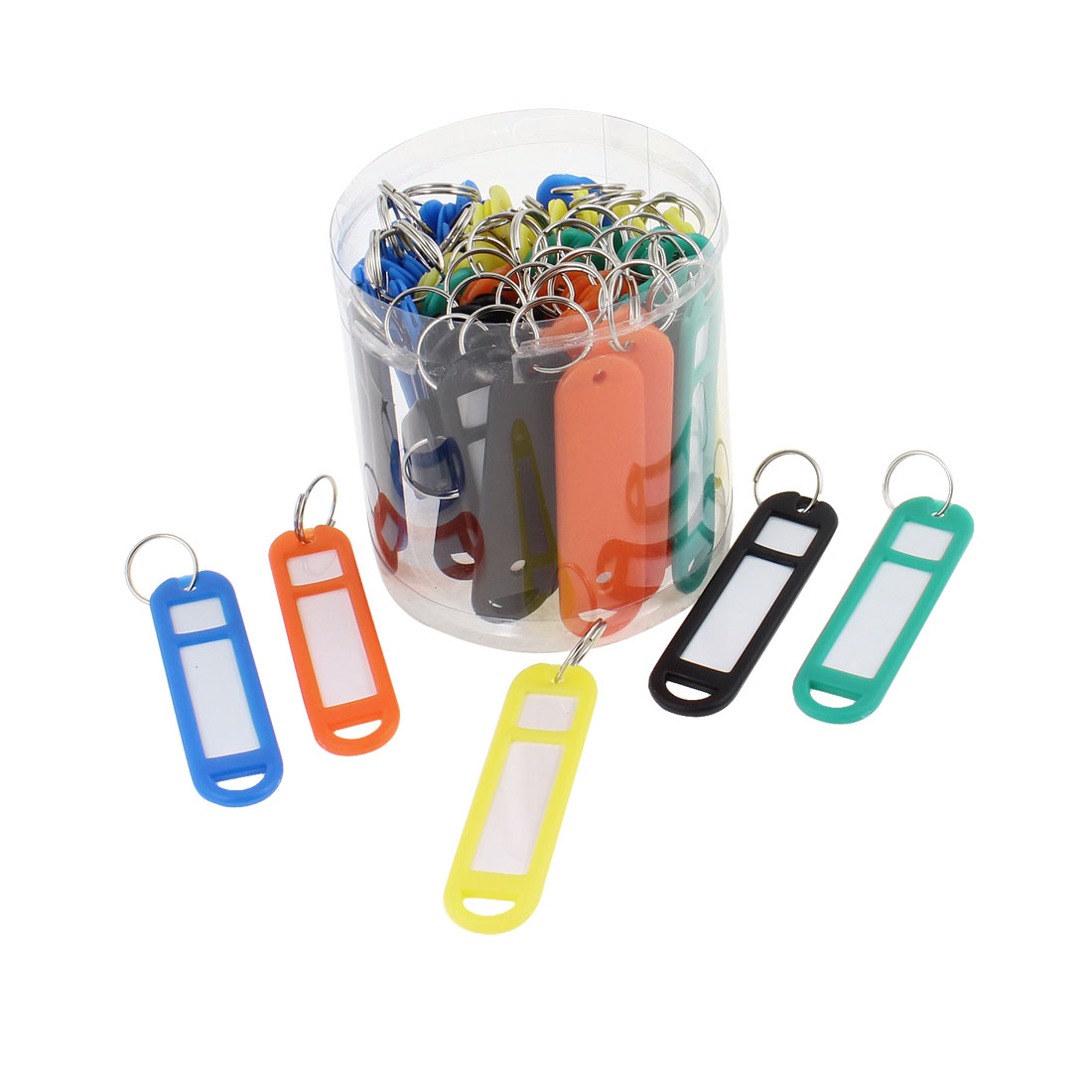 Colorful Plastic Personal Details Clip Holder Backpack Ornament 50 Pieces