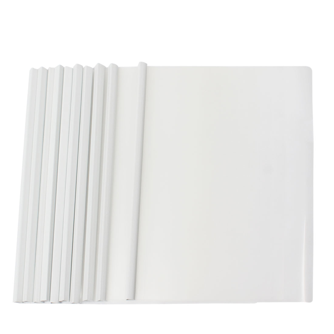 10 Pcs Gray Plastic Sliding Bar File Folder for A4 Paper Report