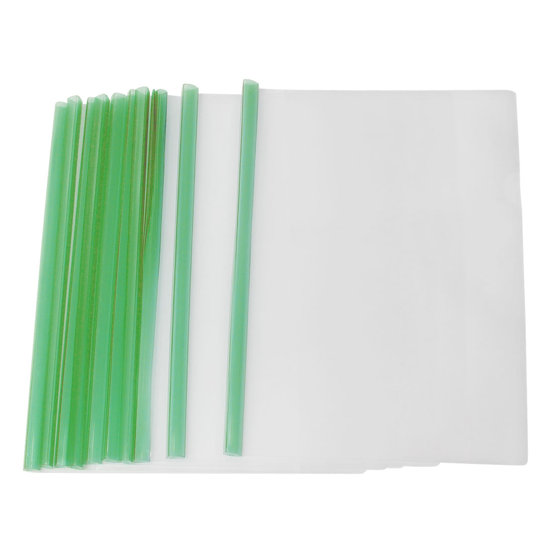 A4 Business Clear Sliding Green Bar Report File Folder 10 Pcs