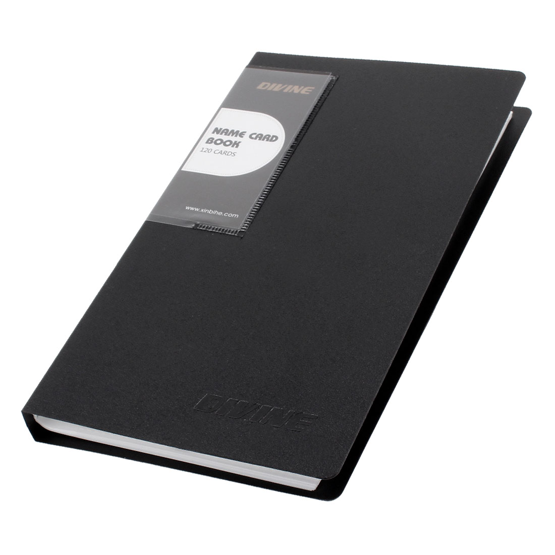 Notebook Shaped 120 Pcs Capacity Business Card Holder Black