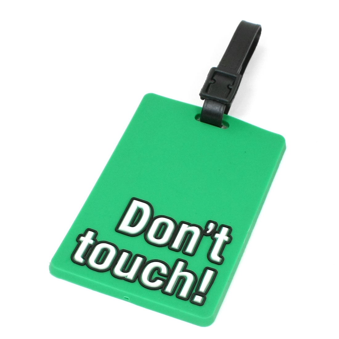 Don't touch Words Print Travel Bag Baggage Backpack Luggage Name ID Tag Green
