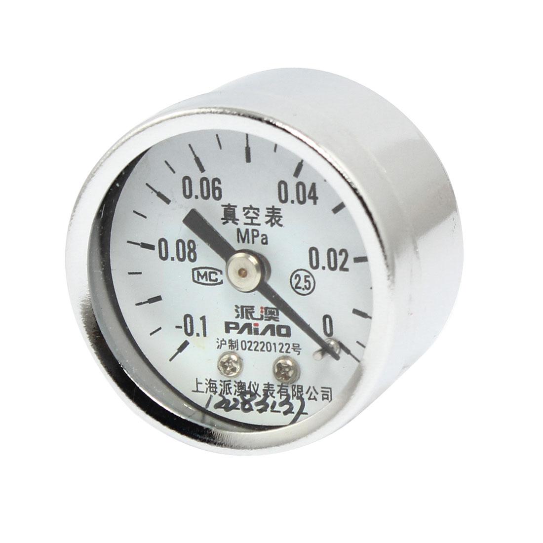 "Horizontal Mount 0.38"" Thread Pneumatic Air Pressure Vacuum Gauge -0.1-0 MPa"