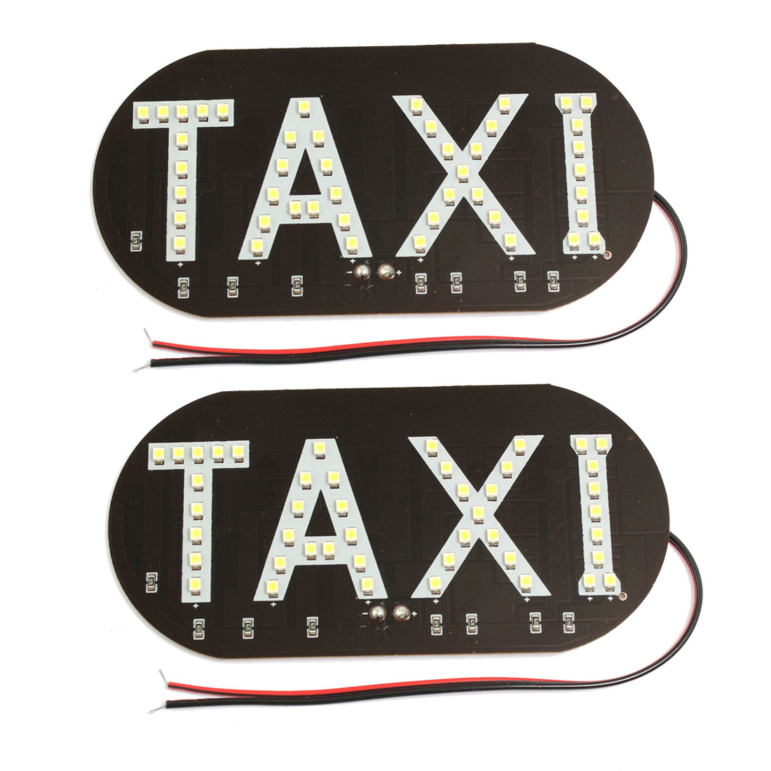 Car Windscreen Cab Sign White 45 LED Taxi Light Lamp DC 12V 2 Pcs