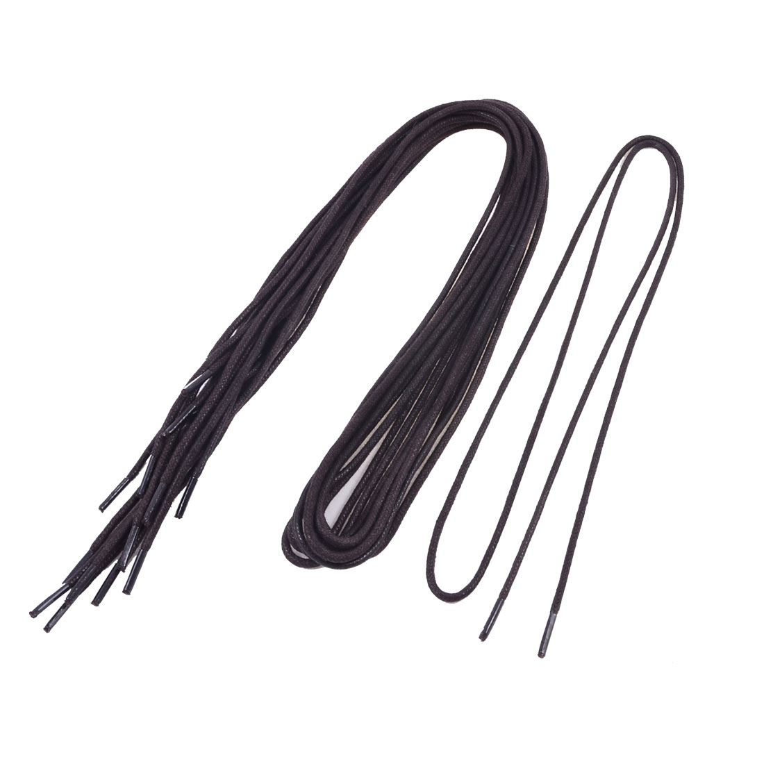 5 Pairs Plastic Tips Cord Shoelaces Coffee Color for Leather Shoes