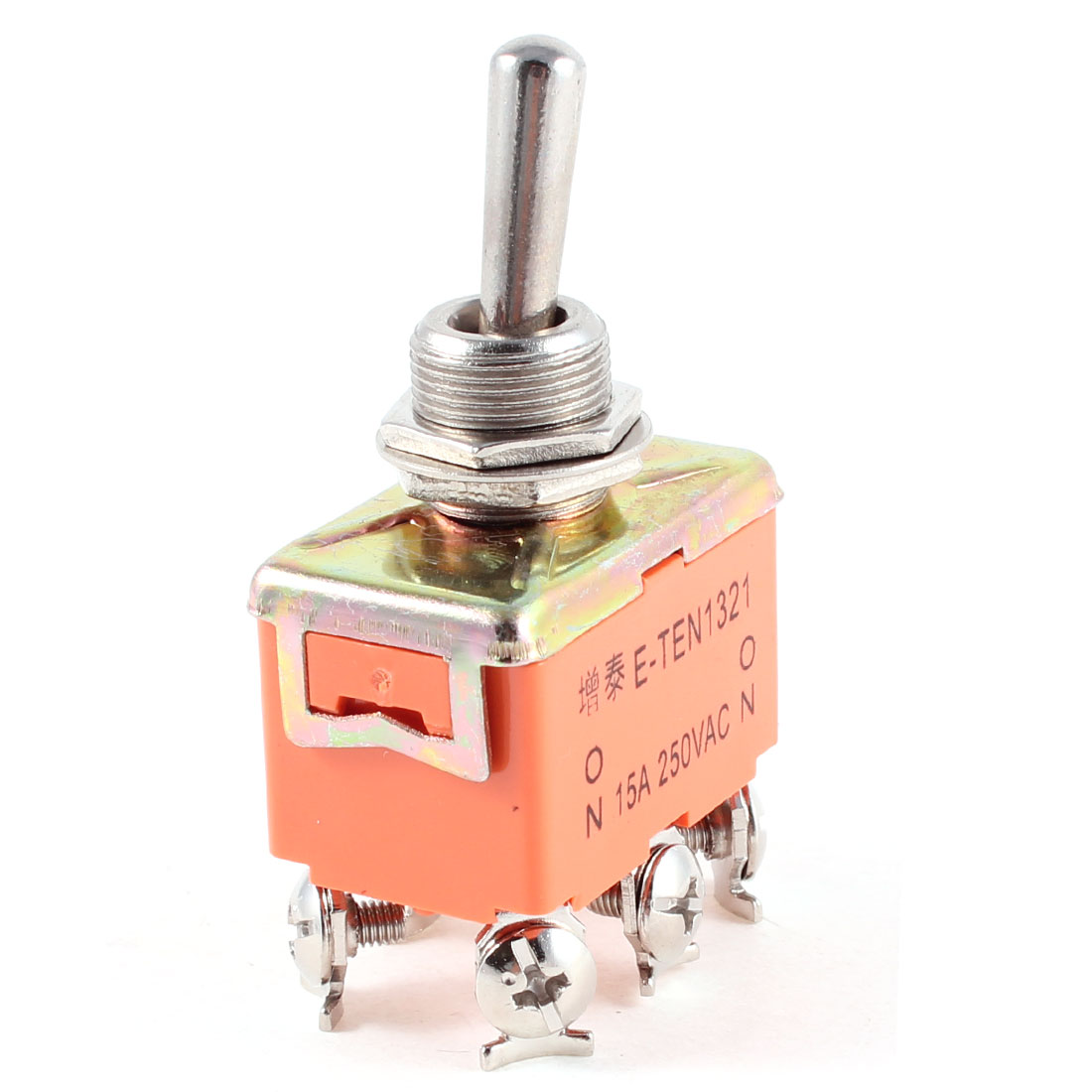 DPDT ON/ON 2 Position 6 Screw Terminals Toggle Switch AC 250V 15A