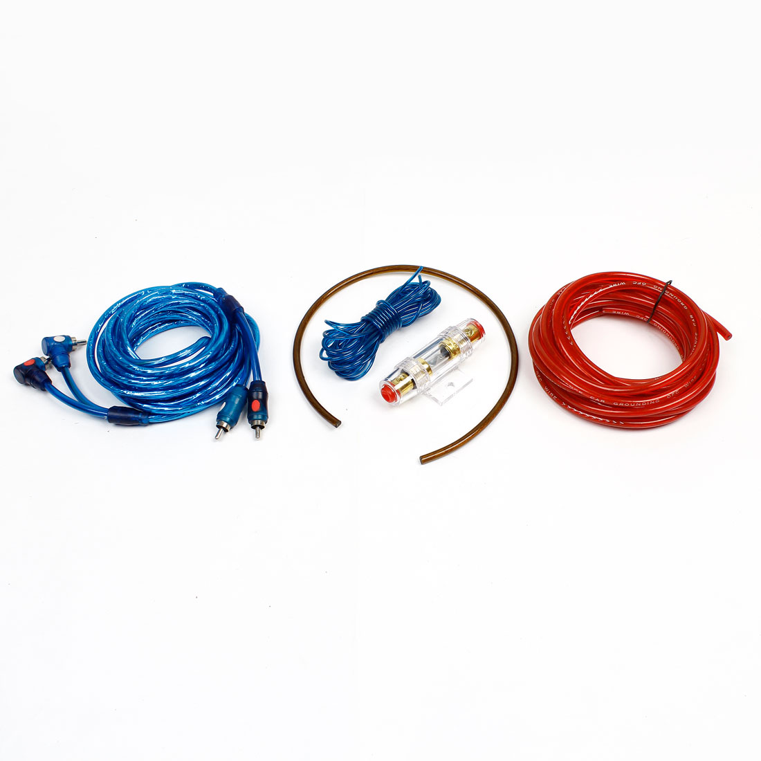 Auto 2 RCA to 2RCA Interconnect Cable Power Amplifier Wiring Kit