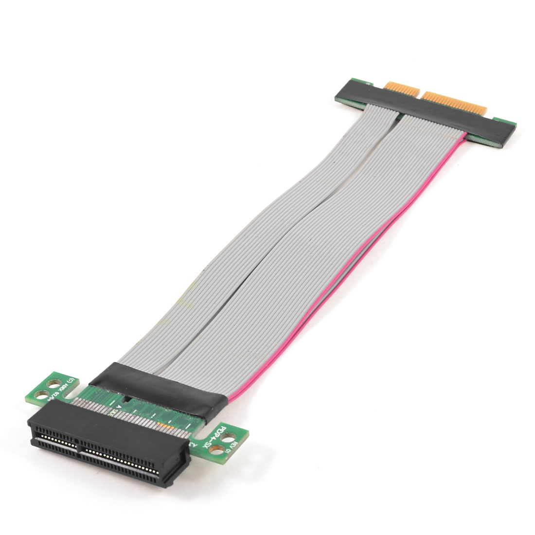 PCI-E 4X Slot Riser Card Extender Extension Ribbon Flex Cable Adapter
