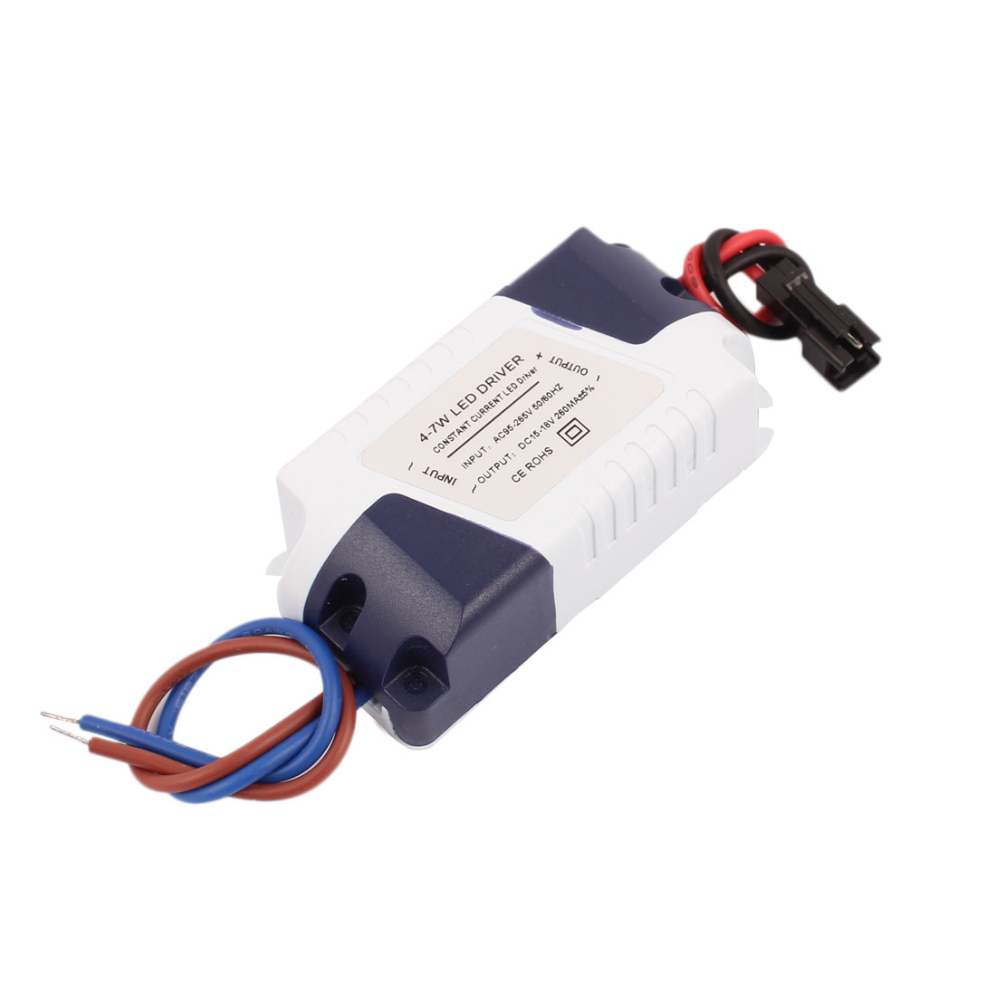 AC 95-265V to DC 15-18V Plastic Shell (4-7)x1W LED Power Supply Driver Adapter